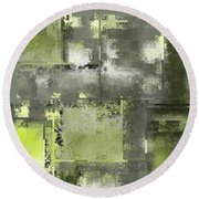 Industrial Abstract - 11t Round Beach Towel