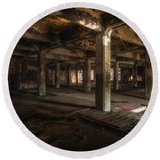 Industrial Catacombs Round Beach Towel