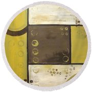 Industrial Circles No.2 Round Beach Towel by Steven R Plout