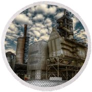 Industrial Disease Round Beach Towel