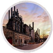 Industrial Landmark Round Beach Towel