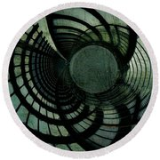 Industrial Overpass Grey Round Beach Towel