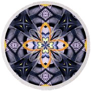 Industrial Provence Round Beach Towel by Lori Kingston