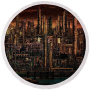 Industrial Psychosis Round Beach Towel