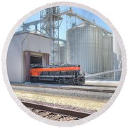 Industrial Switcher 5405 Round Beach Towel by Jim Thompson