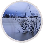 Industry In Color Round Beach Towel