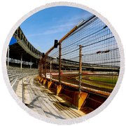 Indy  Indianapolis Motor Speedway Round Beach Towel by Iconic Images Art Gallery David Pucciarelli
