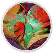 Infatuation Round Beach Towel