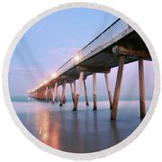 Infinite Bridge Round Beach Towel