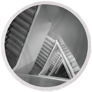 Infinite Stairs Round Beach Towel