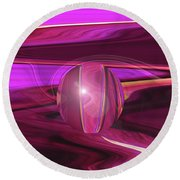 Infinity And Beyond - Abstract Iris Photography Round Beach Towel