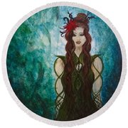 Infinity Goddess Round Beach Towel