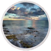 Infinity Round Beach Towel by James Roemmling