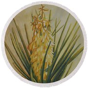 Inflorescence Round Beach Towel