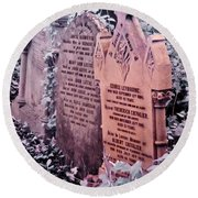Round Beach Towel featuring the photograph Music Hall Stars At Abney Park Cemetery by Helga Novelli