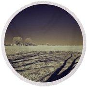 Infrared Landscape Lancaster Pa Round Beach Towel
