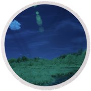 Infrared Landscape Round Beach Towel