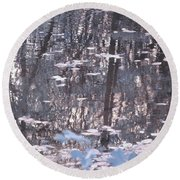 Infrared Reflection Round Beach Towel