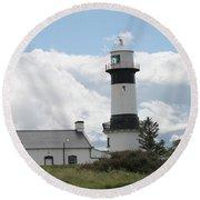 Inishowen Lighthouse Round Beach Towel