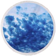 Round Beach Towel featuring the photograph Ink Blot Sky by Colleen Kammerer