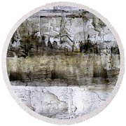 Round Beach Towel featuring the painting Ink On A Roll by Nancy Kane Chapman
