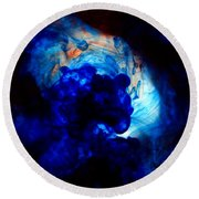 Ink Swirls 002 Round Beach Towel