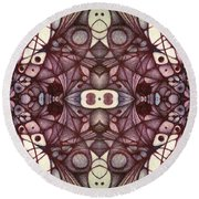 Ink Thoughts Variation Three Round Beach Towel