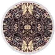 Ink Thoughts Variation Two Round Beach Towel