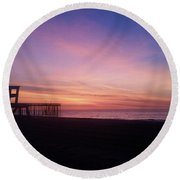 Inlet Beach At Dawn Round Beach Towel