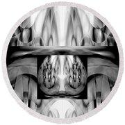 Round Beach Towel featuring the digital art Inner Dimensions by Lynda Lehmann