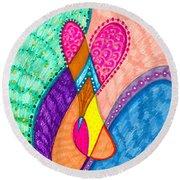 Inner Heart - V Round Beach Towel