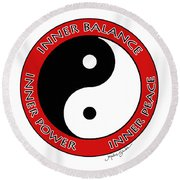Inner Peace Round Beach Towel