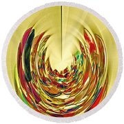 Round Beach Towel featuring the photograph Inner Peace by Nareeta Martin