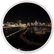 Inner Harbour Of Victoria Bc Round Beach Towel