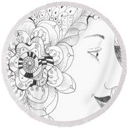 Innocence And Experience Round Beach Towel