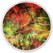 Innocent Dreams Rearranged Abstract Grunge Round Beach Towel