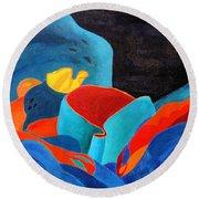 Inorganic Incandescence Round Beach Towel by Lynne Reichhart