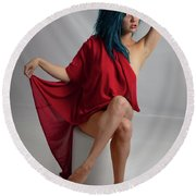 Inquisitive Maxina Round Beach Towel