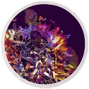 Round Beach Towel featuring the digital art Insect Bug Bee Beetle  by PixBreak Art