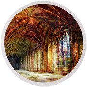 Round Beach Towel featuring the photograph Inside 2 - Transit by Alfredo Gonzalez