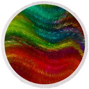 Inside A Rainbow Round Beach Towel by Stuart Turnbull