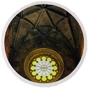 Round Beach Towel featuring the photograph Inside Jeronimos by Carlos Caetano