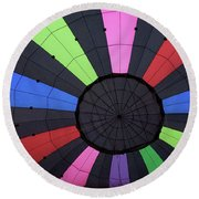 Inside The Balloon Round Beach Towel
