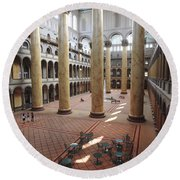 Inside The National Building Museum In Washington Dc Round Beach Towel