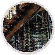 Inside Ulele The Wine Storage Round Beach Towel