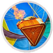 Round Beach Towel featuring the photograph Inside View by AJ Schibig