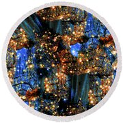 Round Beach Towel featuring the digital art Inspiration #6102 by Barbara Tristan
