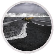 Inspirational Liquid Round Beach Towel