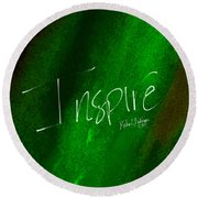 Inspire Round Beach Towel