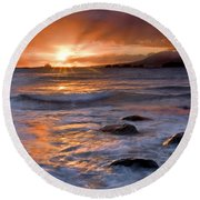 Inspired Light Round Beach Towel by Mike  Dawson
